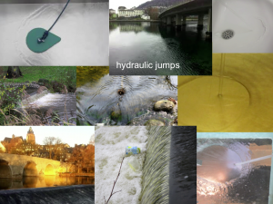 Collection of hydraulic jumps. By Mirjam S. Glessmer