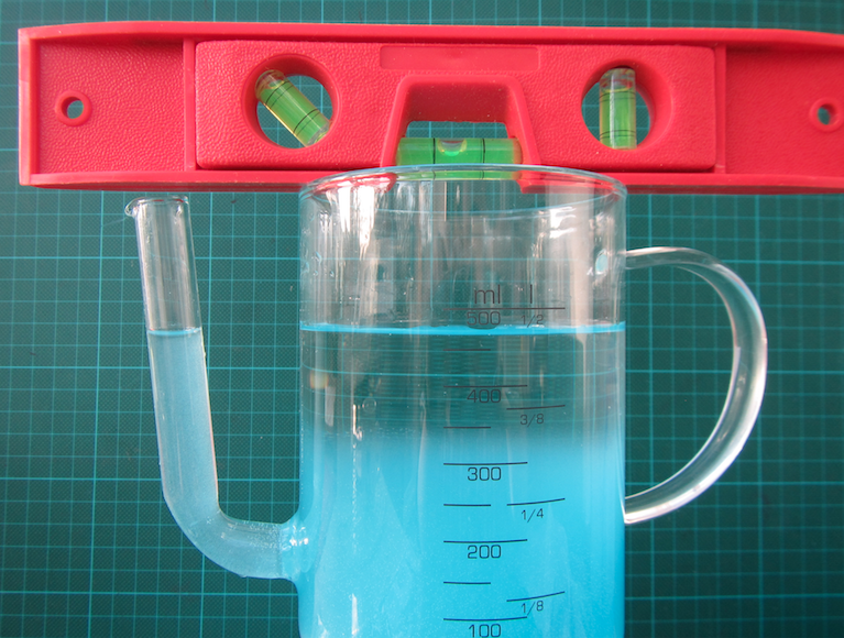Water seeks its level. U-tube experiment. By Mirjam S. Glessmer