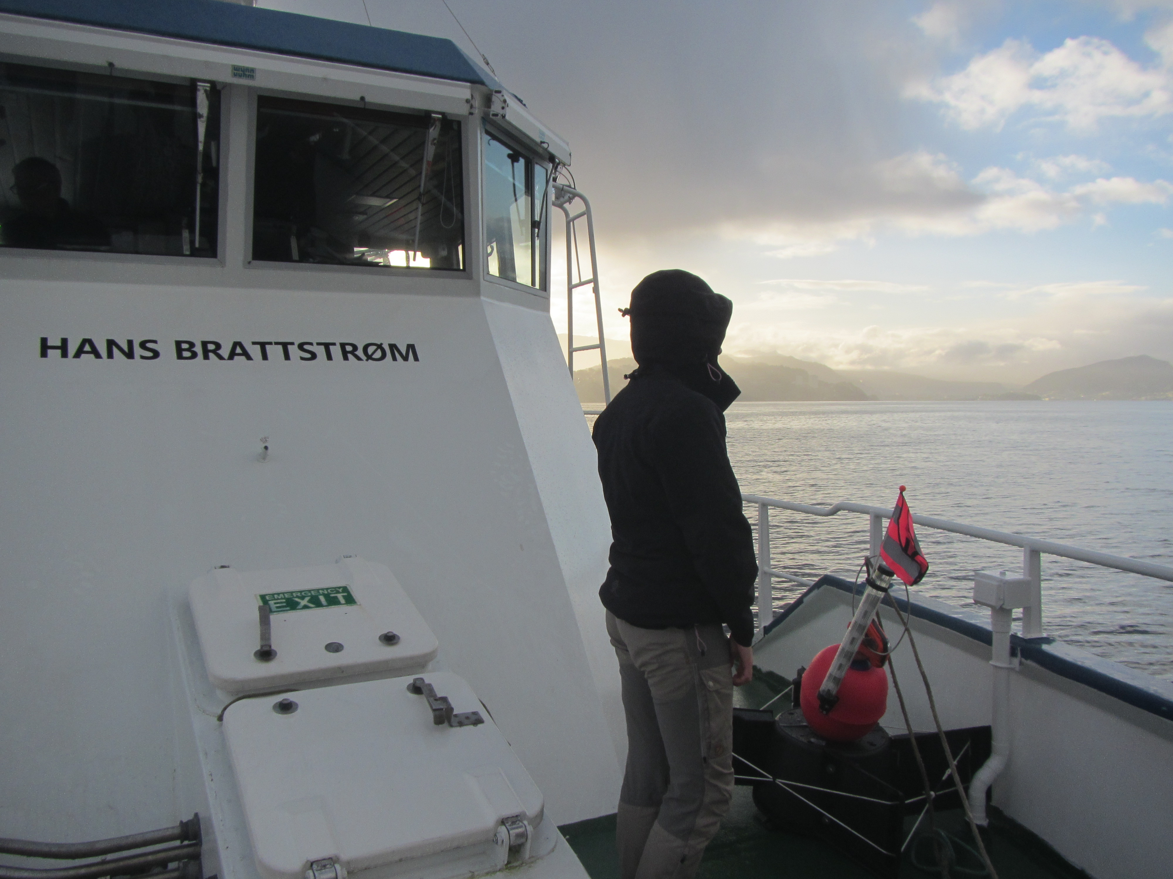 We are sailing on RV Hans Brattstrøm